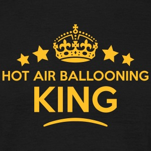 hot air ballooning king keep calm style  T-SHIRT - Men's T-Shirt