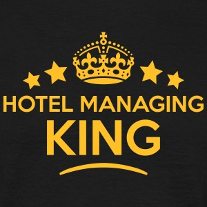 hotel managing king keep calm style crow T-SHIRT - Men's T-Shirt