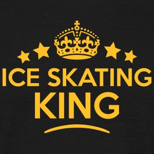 ice skating king keep calm style crown s T-SHIRT - Men's T-Shirt