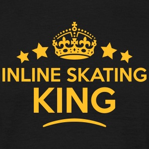 inline skating king keep calm style crow T-SHIRT - Men's T-Shirt