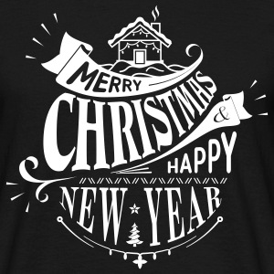 Black Merry Christmas T-Shirts - Men's T-Shirt