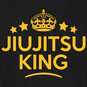 jiujitsu king keep calm style crown star T-SHIRT - Men's T-Shirt
