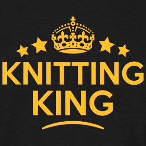 knitting king keep calm style crown star T-SHIRT - Men's T-Shirt