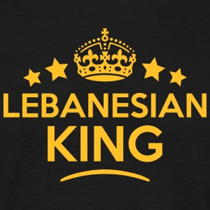lebanesian king keep calm style crown st T-SHIRT - Men's T-Shirt