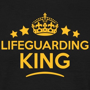 lifeguarding king keep calm style crown  T-SHIRT - Men's T-Shirt