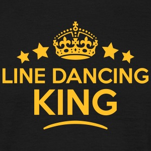 line dancing king keep calm style crown  T-SHIRT - Men's T-Shirt