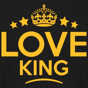 love king keep calm style crown stars T-SHIRT - Men's T-Shirt