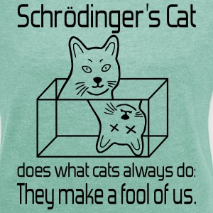 Schroedinger's cat T-Shirts - Women's T-shirt with rolled up sleeves