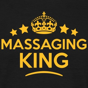 massaging king keep calm style crown sta T-SHIRT - Men's T-Shirt