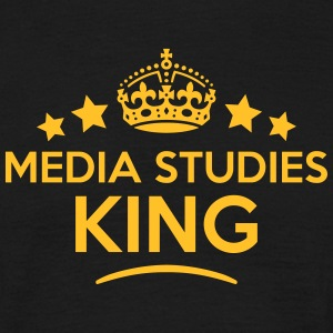 media studies king keep calm style crown T-SHIRT - Men's T-Shirt