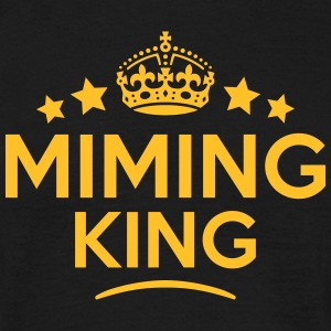 miming king keep calm style crown stars T-SHIRT - Men's T-Shirt