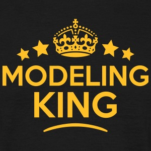 modeling king keep calm style crown star T-SHIRT - Men's T-Shirt