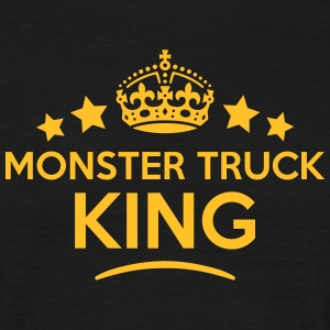monster truck king keep calm style crown T-SHIRT - Men's T-Shirt