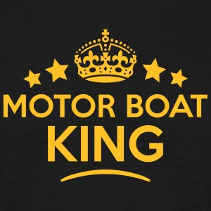 motor boat king keep calm style crown st T-SHIRT - Men's T-Shirt