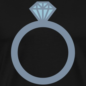 Diamanten ring T-shirts - Mannen Premium T-shirt