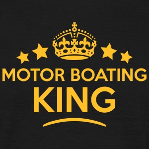 motor boating king keep calm style crown T-SHIRT - Men's T-Shirt