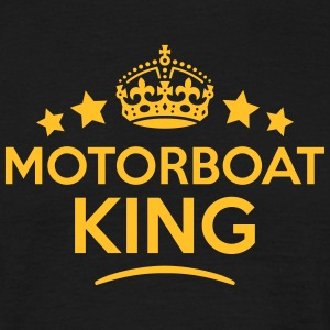 motorboat king keep calm style crown sta T-SHIRT - Men's T-Shirt