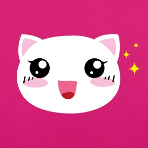 Kawaii happy Cat - Bio-Stoffbeutel