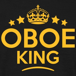 oboe king keep calm style crown stars T-SHIRT - Men's T-Shirt