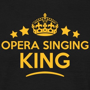 opera singing king keep calm style crown T-SHIRT - Men's T-Shirt