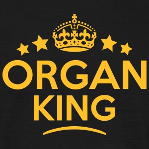 organ king keep calm style crown stars T-SHIRT - Men's T-Shirt