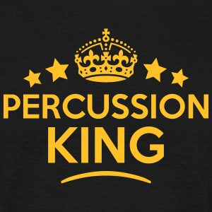 percussion king keep calm style crown st T-SHIRT - Men's T-Shirt