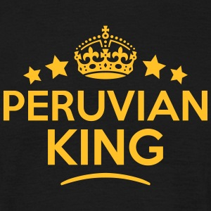 peruvian king keep calm style crown star T-SHIRT - Men's T-Shirt