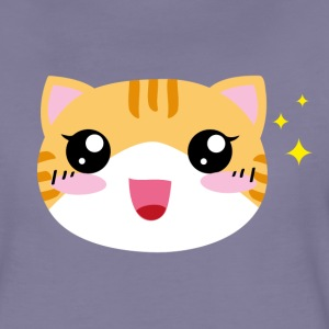 Kawaii happy Cat - Frauen Premium T-Shirt
