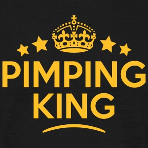 pimping king keep calm style crown stars T-SHIRT - Men's T-Shirt