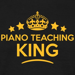 piano teaching king keep calm style crow T-SHIRT - Men's T-Shirt