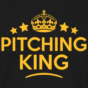 pitching king keep calm style crown star T-SHIRT - Men's T-Shirt