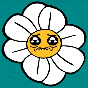 face, comic cartoon daisy buttercup daisy sad unha T-Shirts - Men's T-Shirt