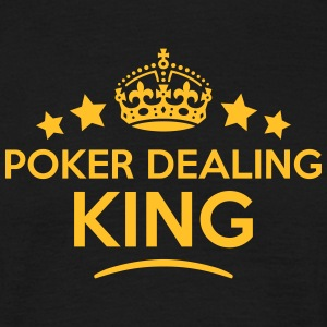 poker dealing king keep calm style crown T-SHIRT - Men's T-Shirt