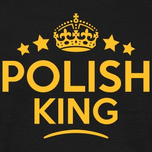 polish king keep calm style crown stars T-SHIRT - Men's T-Shirt