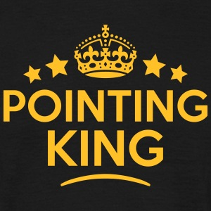 pointing king keep calm style crown star T-SHIRT - Men's T-Shirt