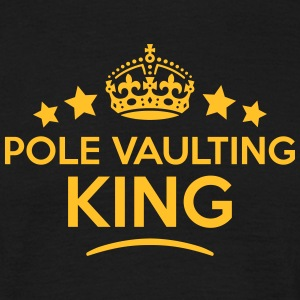 pole vaulting king keep calm style crown T-SHIRT - Men's T-Shirt