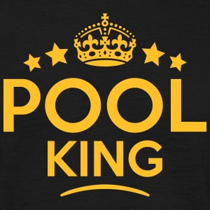 pool king keep calm style crown stars T-SHIRT - Men's T-Shirt