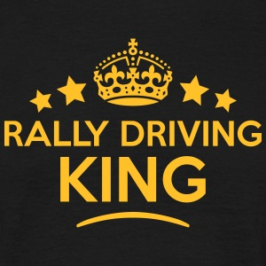 rally driving king keep calm style crown T-SHIRT - Men's T-Shirt