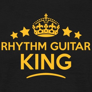rhythm guitar king keep calm style crown T-SHIRT - Men's T-Shirt