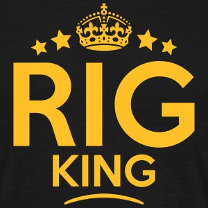 rig king keep calm style crown stars T-SHIRT - Men's T-Shirt