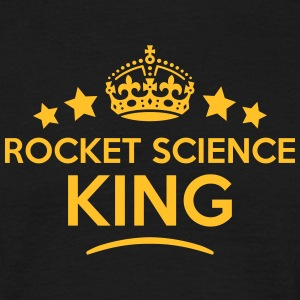 rocket science king keep calm style crow T-SHIRT - Men's T-Shirt