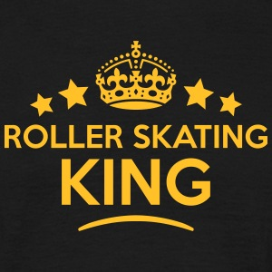 roller skating king keep calm style crow T-SHIRT - Men's T-Shirt