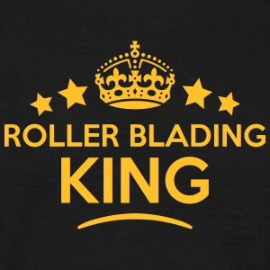 roller blading king keep calm style crow T-SHIRT - Men's T-Shirt