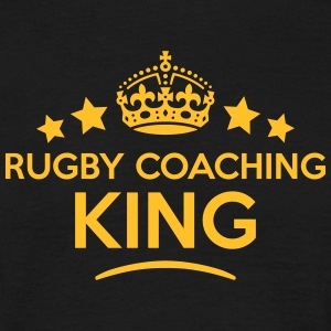 rugby coaching king keep calm style crow T-SHIRT - Men's T-Shirt