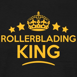 rollerblading king keep calm style crown T-SHIRT - Men's T-Shirt