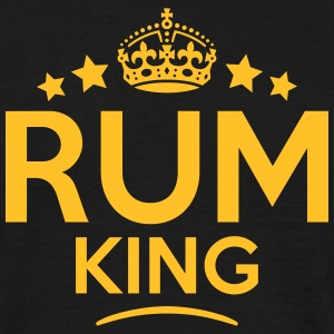 rum king keep calm style crown stars T-SHIRT - Men's T-Shirt