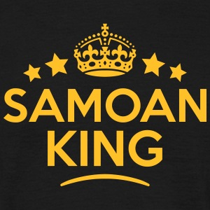 samoan  king keep calm style crown stars T-SHIRT - Men's T-Shirt