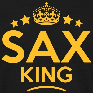 sax king keep calm style crown stars T-SHIRT - Men's T-Shirt