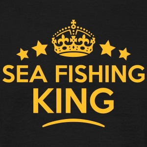 sea fishing king keep calm style crown s T-SHIRT - Men's T-Shirt