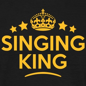 singing king keep calm style crown stars T-SHIRT - Men's T-Shirt